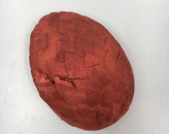 Hatching Red Dragon Egg Bath Bomb WITH Dragon Toy Inside!