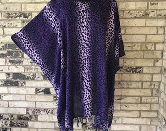 Plus Size Lightweight Rayon Animal Print Tunic