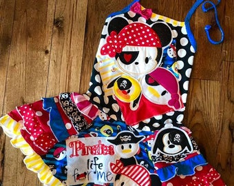 Disney tsum tsum loaded applique pirate night set. includes all appliques shown sizes 2t-10 girls custom