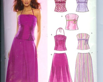 Simplicity  Misses SKIRT Top Sewing Pattern 6481  Size A 6-16  New Look Pattern  6 Sizes In One