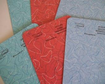 Retro Formica Sample ~ Boomerang Formica ~ Formica Laminate 5 x 7 Sample