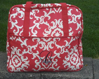 Overnight Bag, Traveling Bag, Women's Bag, Women's Luggage, Red, Gifts for her