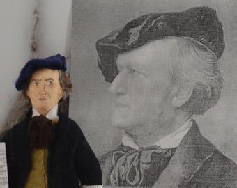 Richard Wagner Composer of Opera Music Art Doll Miniature