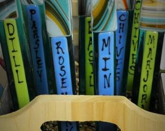 GARDEN SALE Marjoram Garden Herb Stakes Gardener Gift, Container Garden Gift, Housewarming Gift, Garden Lovers Gift, Garden
