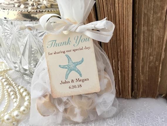 Beach Theme Wedding Photo Albums : Beach wedding favor bags aqua starfish
