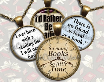 Book Lovers Glass Pendant Necklace Jewelry Bundle Gift Party Favors Grab Bag Bulk Discount