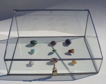 Lockable, Commercial Glass Display Case, Glass Display Case, with Lockable Latch -  14 x 10 x 6 x 3 Inches