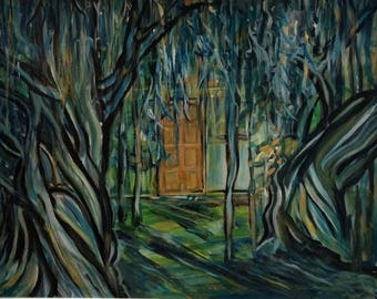 Wall Art - Art Print - Tree Art - Landscape Art - Welcome home - Goodbye - The answer is behind the door - The door to your future