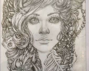 Her eyes - Pencil drawing
