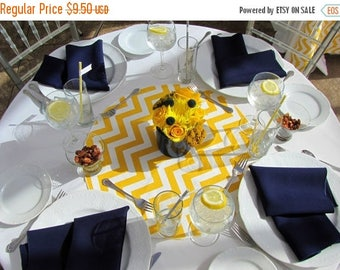 """ON SALE TABLE Rounds Chevron Yellow and white table rounds for Centerpieces Yellow  zigzag chevron 20"""" Other Colors Available"""