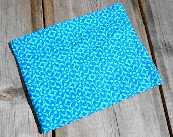 Reusable Snack Bag - Single Bag in Blue Geometric
