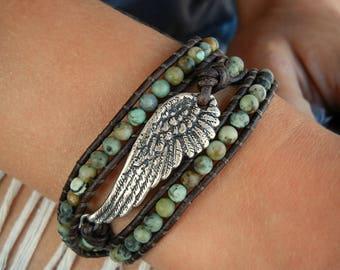 Boho Wrap Bracelet, Boho Jewelry, Bohemian Bracelet, Bohemian Wrap Bracelet, Boho Bohemian Jewelry, Boho Bracelet Boho Leather Wrap Bracelet