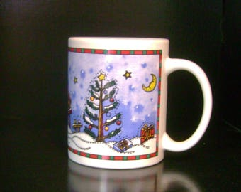 Cute Christmas Coffee Mug - 1980s
