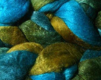 Polwarth Tussah Silk Spinning Fiber - 'Low Carbon World