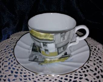 Stanley Fine Bone China England RARE Tea Cup & Saucer Free ship