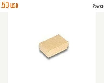 STOREWIDE SALE 50 Pack of 2.5X1.5X1 Inch Size Kraft Cotton Filled Jewelry Gift Merchandise Boxes