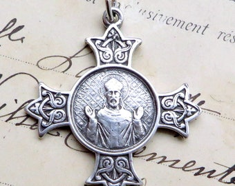 Sterling Silver St Martin of Tours Medal - Patron of soldiers and the military
