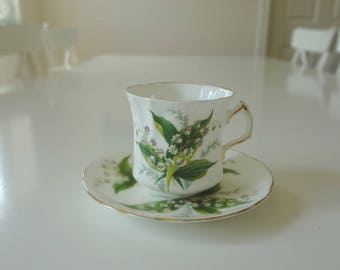 Hammersley Lily of the Valley Cup Saucer Duo Tea Cup & Saucer - EnglishPreserves