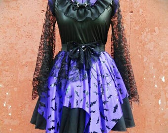 VK Freakshow Babydoll purple gothic vampire princess Halloween costume dress plus size