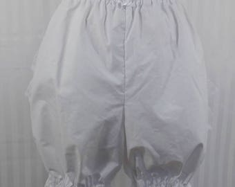 White ruffle above the knee bloomers steampunk lolita adult women