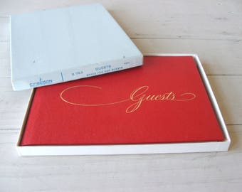 C R Gibson Vintage Guestbook in original box