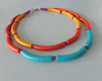 Let's do colours necklace, Colorful bib necklace