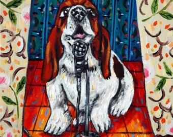 BASSET HOUND-Hund Kunst Fliesen, Hund Fliesen, Basset Hound Fliesen, Untersetzer, modernen Volkskunst, Hund, Geschenk, Pop-Art