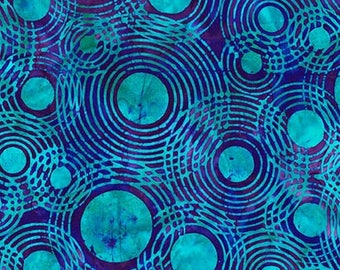 Batik Circles Optical Illusion Bermuda Lunn Studios Robert Kaufman Fabric