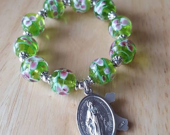 mini rosary, small rosary, baptism gift girl, first communion gift, confirmation gift, gift mom, one decade rosary, religious gift