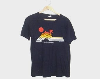 1970s t shirt / vintage 70s tshirt / large l / travel / Indianhead Ski T-Shirt