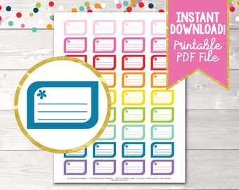 Printable Planner Stickers Reminder or Appointment Boxes Instant Download PDF