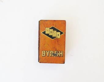 Byrrh Tin of Playing Cards // Vintage Toys & Games // Vintage Home Decor