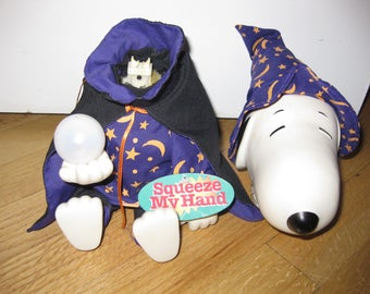 Musical Snoopy Wizard Halloween OFF with his HEAD says my 2 year old grandson....and he did Need TLC