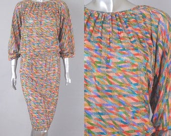 missoni silk dress | vintage missoni dress | vintage 80s dress