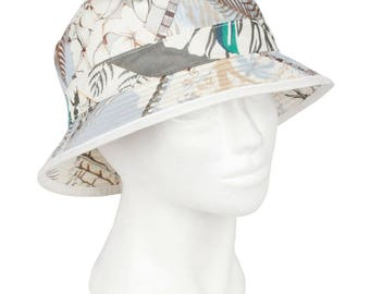 Authentic HERMES Vintage Printed Cotton Bucket Hat Size 58