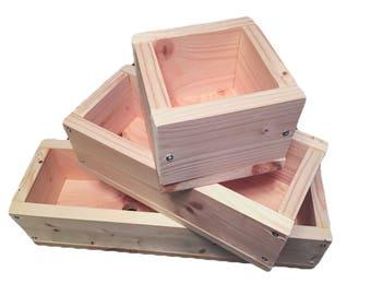 Handmade Soap mold Solid wood