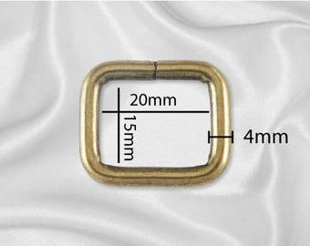"500pcs - 3/4"" Metal Square Ring - Antique Brass (SQUARE RING SRG-104)"