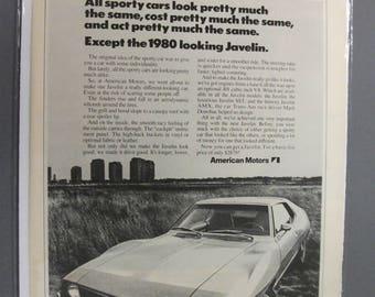 A.M. 111   American Motors Javelin  Magazine Ad -  April 1971