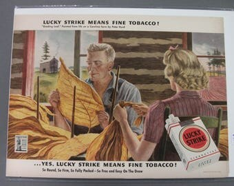 "Tob #108  ""Lucky Strike   Cigarettes ""  Ad - Oct  1943"