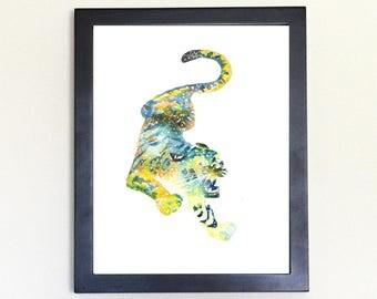 Tiger Spirit Animal Art Print Watercolor 8x10