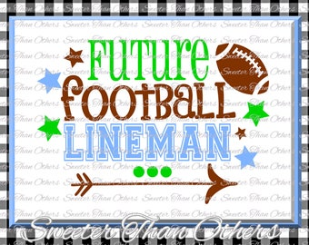 Football Svg, Future Football Lineman svg, boy baby onesie cut file boy svg, baby cutting file Dxf Silhouette Cricut INSTANT DOWNLOAD