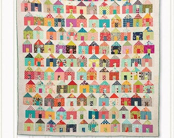 Village Quilt Pattern - Jumble Miss Rosie's Quilt Co RQC701 Charm Pack Quilt