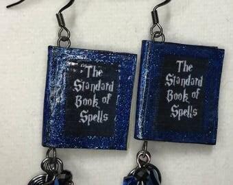 Harry Potter Hogwarts Spells Textbook Earrings