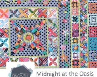 "Midnight at the Oasis Scrap Quilt Pattern by Jen Kingwell, 60"" Square"