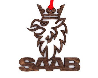 Wooden SAAB Ornament
