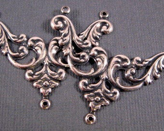 Rustic Chandelier Connector Charms Handmade Pewter Jewelry