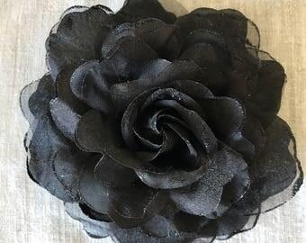 SILK ROSA , Rose Flower, Midnight Black /  SR - 02