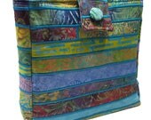 Large Batik Purse in Multicolored Fabrics
