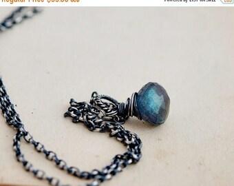 Summer Sale Labradorite Necklace, Labradorite Pendant, Blue Labradorite, Sterling Silver, PoleStar Jewelry, Labradorite Gemstone, Gemstone J