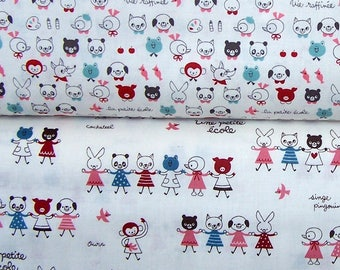 Japanese La Petite Ecole Cotton Fabric - select cut and design